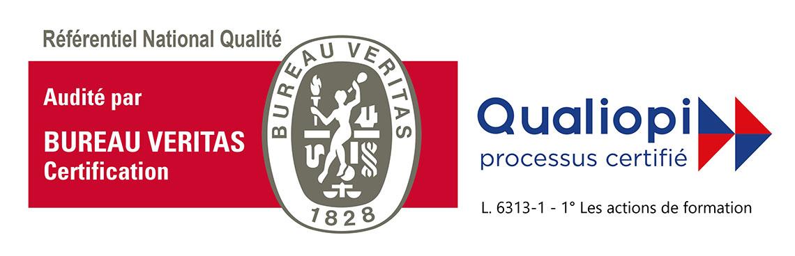 GF2B et PREVENTPRO sont certifiés RNQ par le bureau Veritas. Gage de qualité pour vos formations professionnelles sur Antibes.