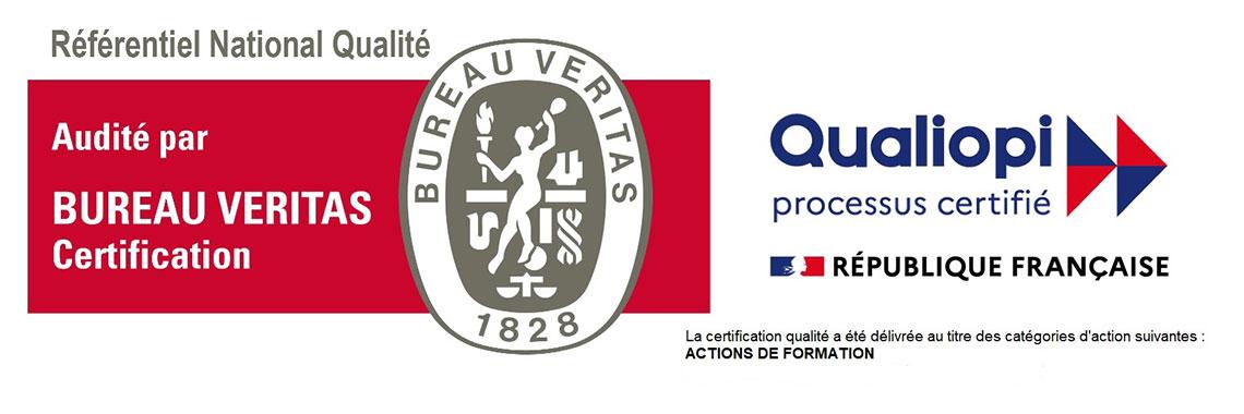 GF2B et PREVENTPRO sont certifiés par le bureau Veritas. Gage de qualité pour vos formations professionnelles sur Antibes.